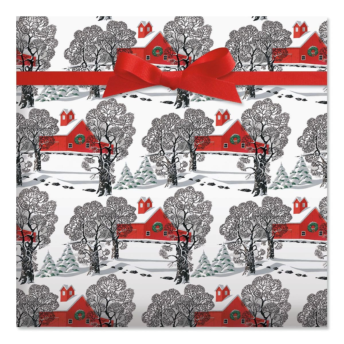 Country Christmas Jumbo Rolled Gift Wrap