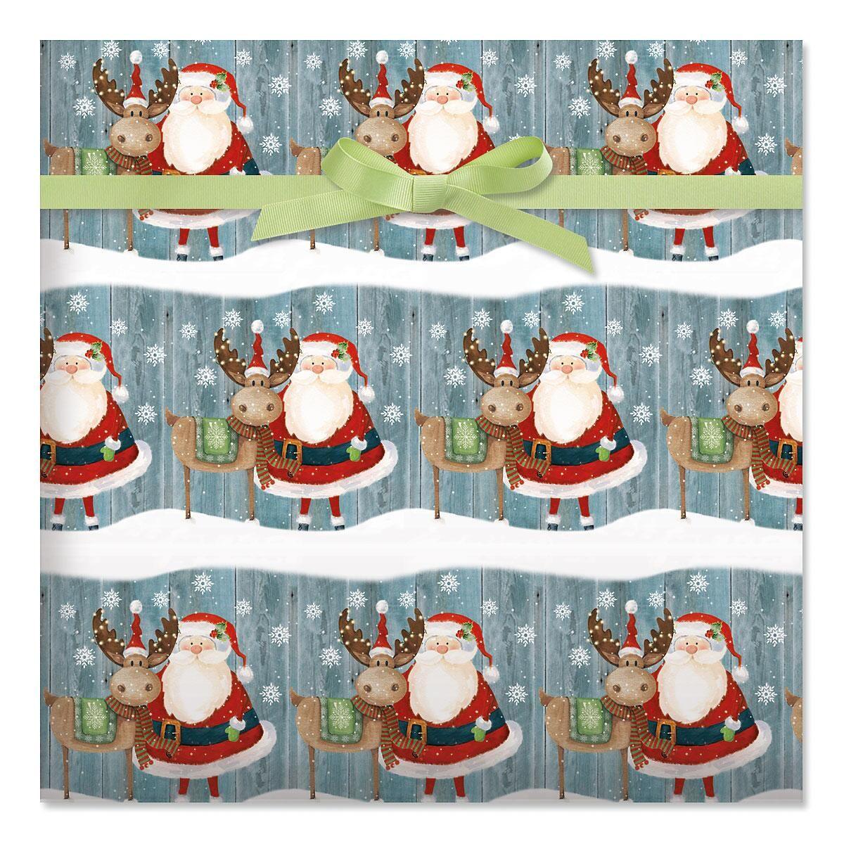 Christmas Chums Jumbo Rolled Gift Wrap