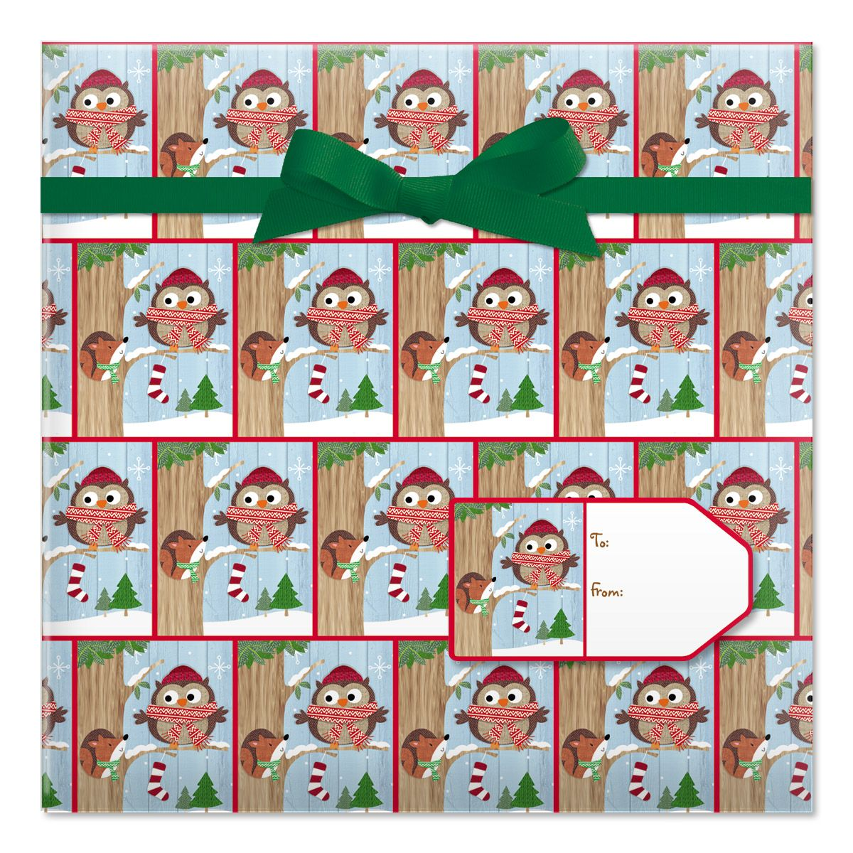Friendly Chat Jumbo Rolled Gift Wrap and Labels