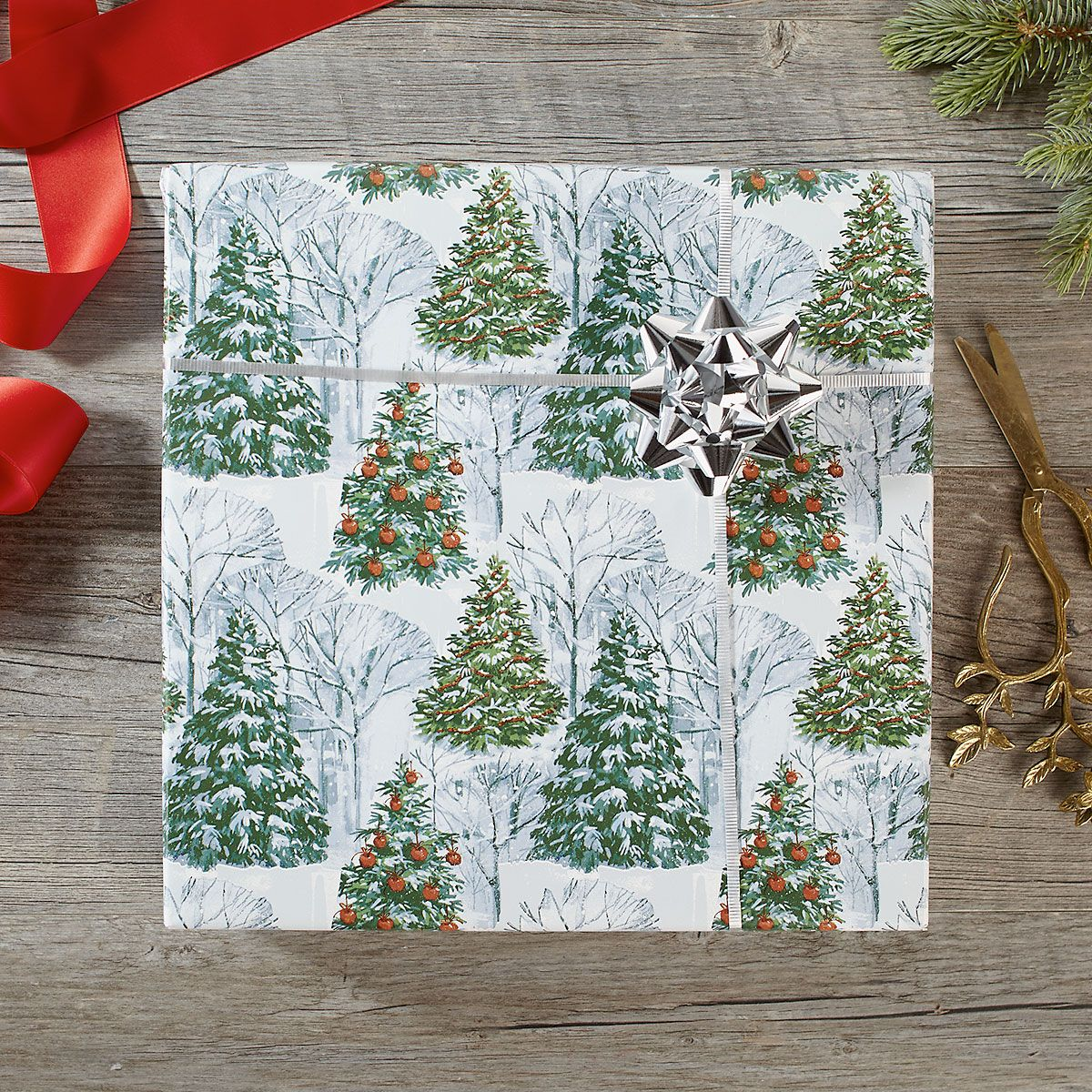 Fantasy Forest Jumbo Rolled Gift Wrap