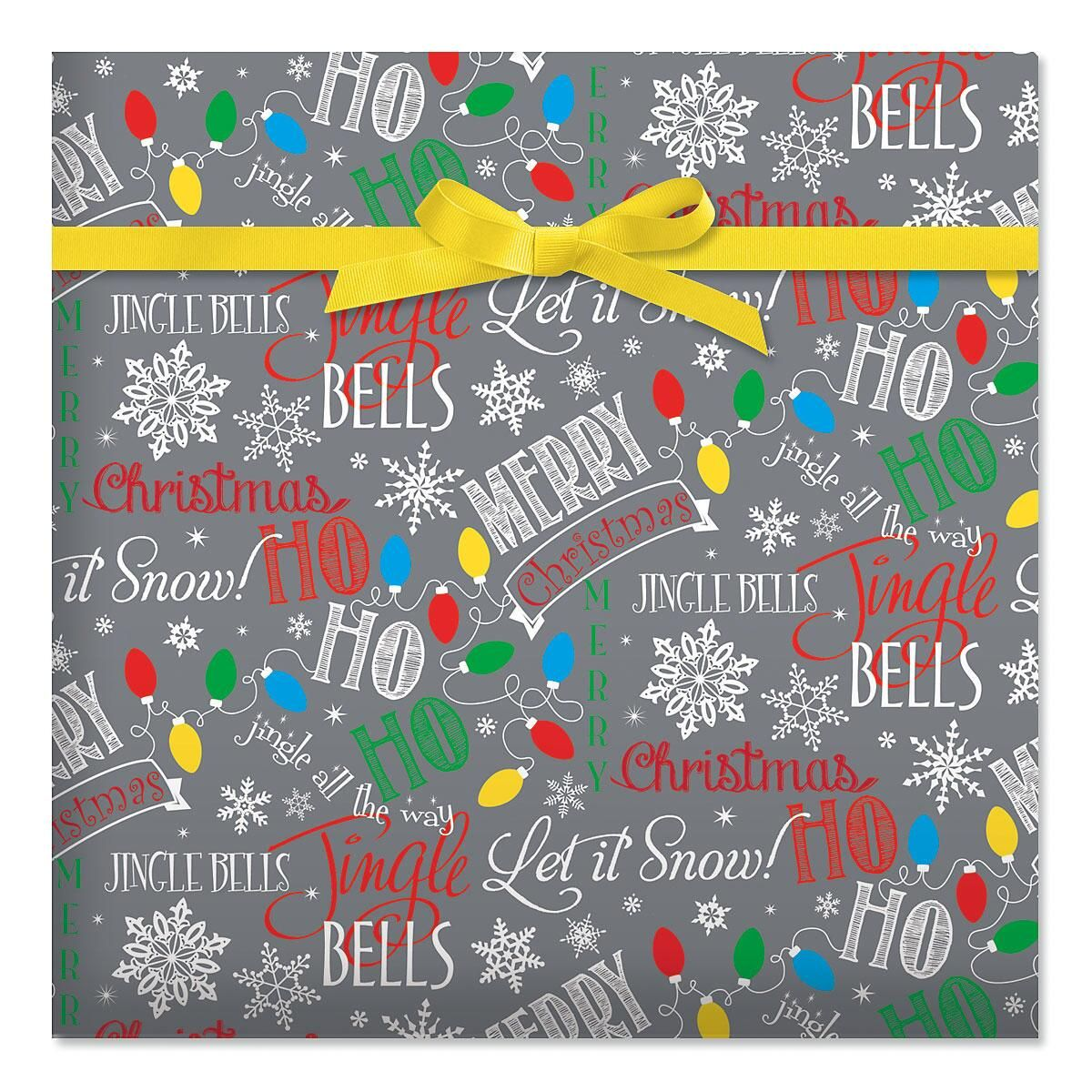 Let It Snow Jumbo Rolled Gift Wrap