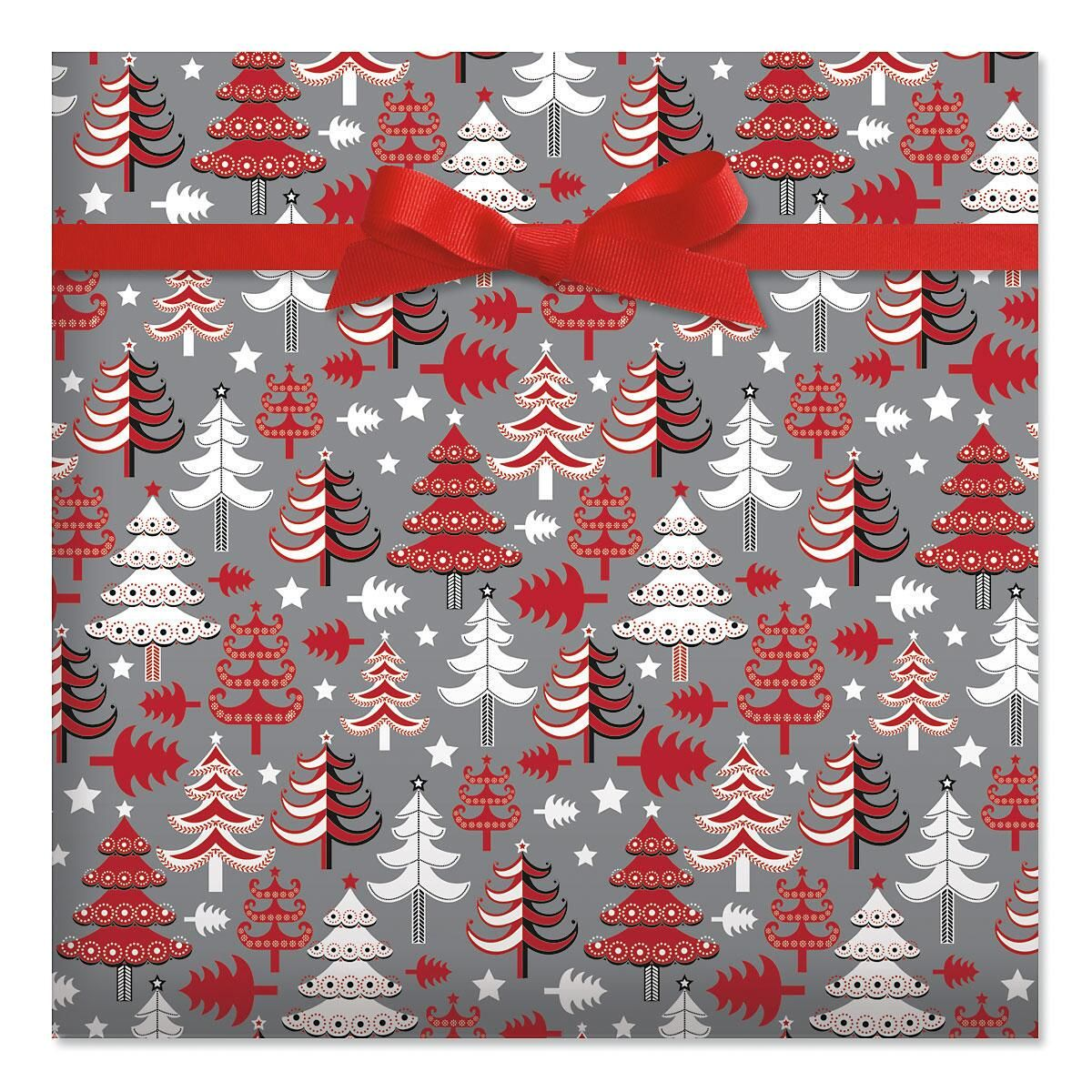 Trees Jumbo Rolled Gift Wrap