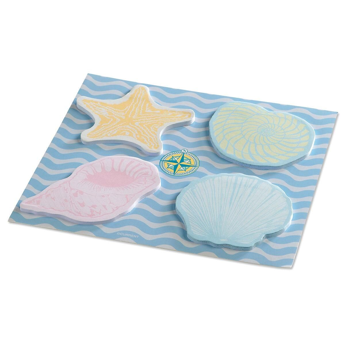 Seashell Sticky Notes on Backer