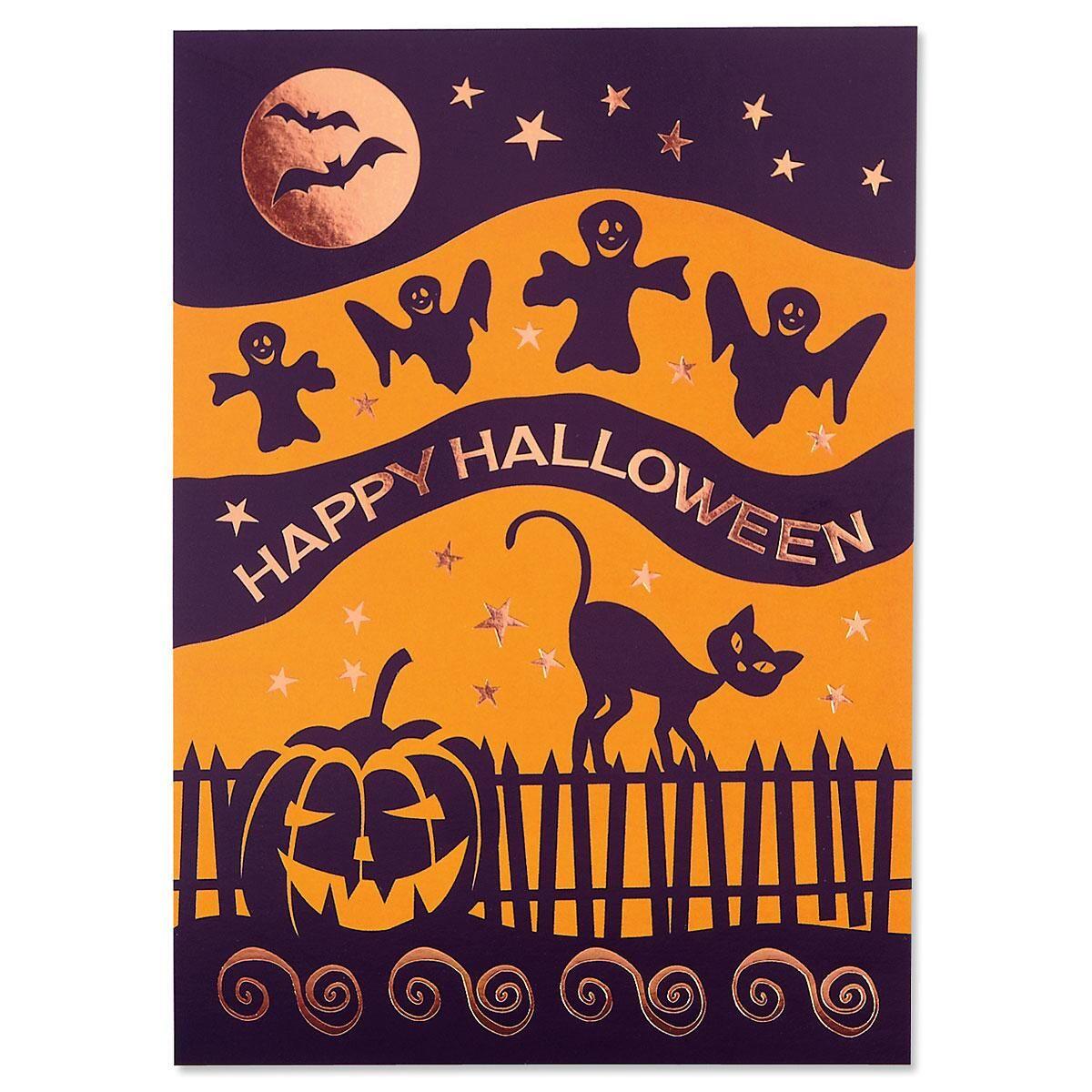Deluxe Halloween Silos Halloween Cards