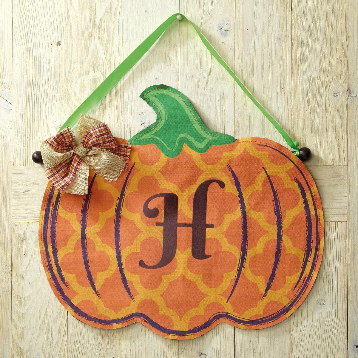 Personalized Pumpkin Door Decoration