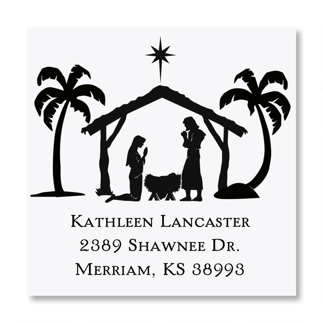 Nativity Square Stamper