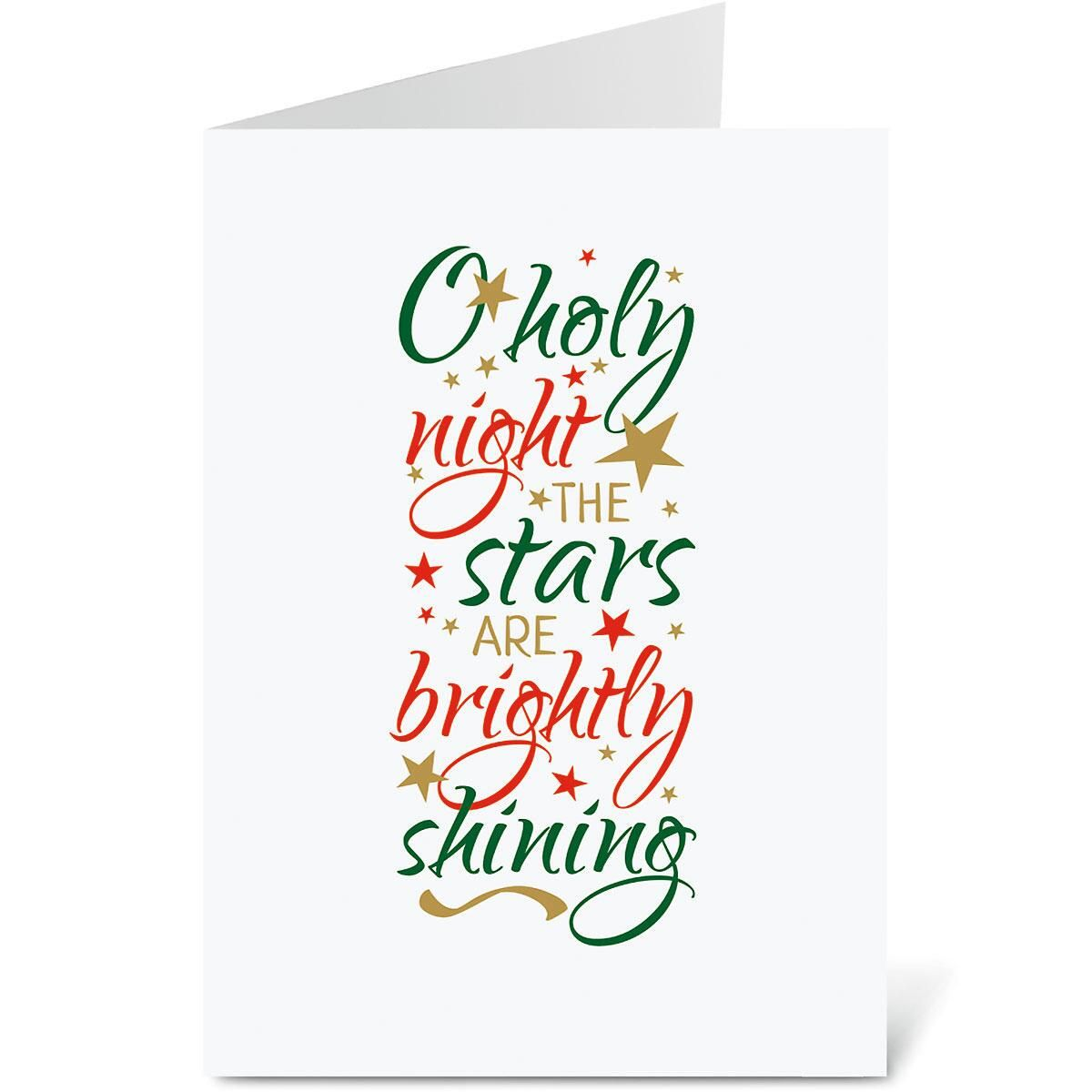 O Holy Night Personalized Christmas Cards - Set of 72