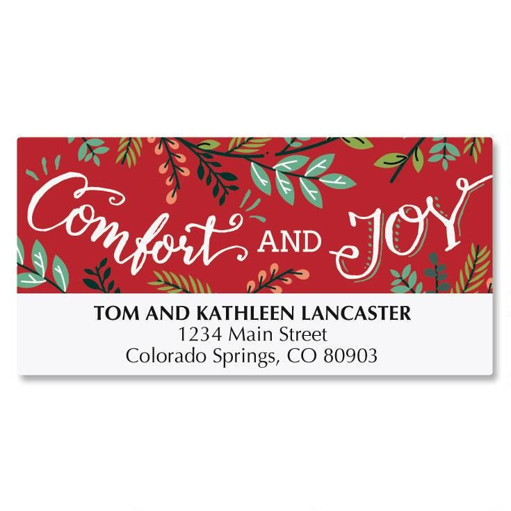 Tidings of Comfort and Joy Deluxe Address Labels