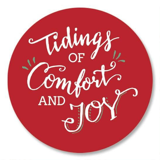 Tidings of Comfort and Joy Seals