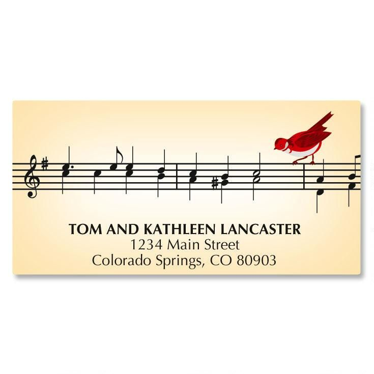 Musical Carol Deluxe Address Labels