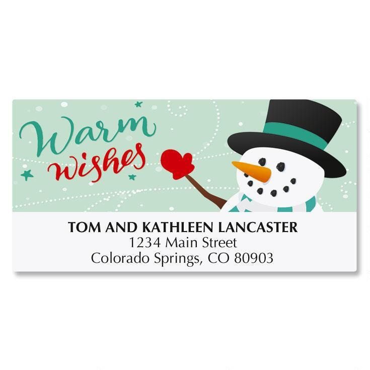 Snowy Holiday Deluxe Address Labels
