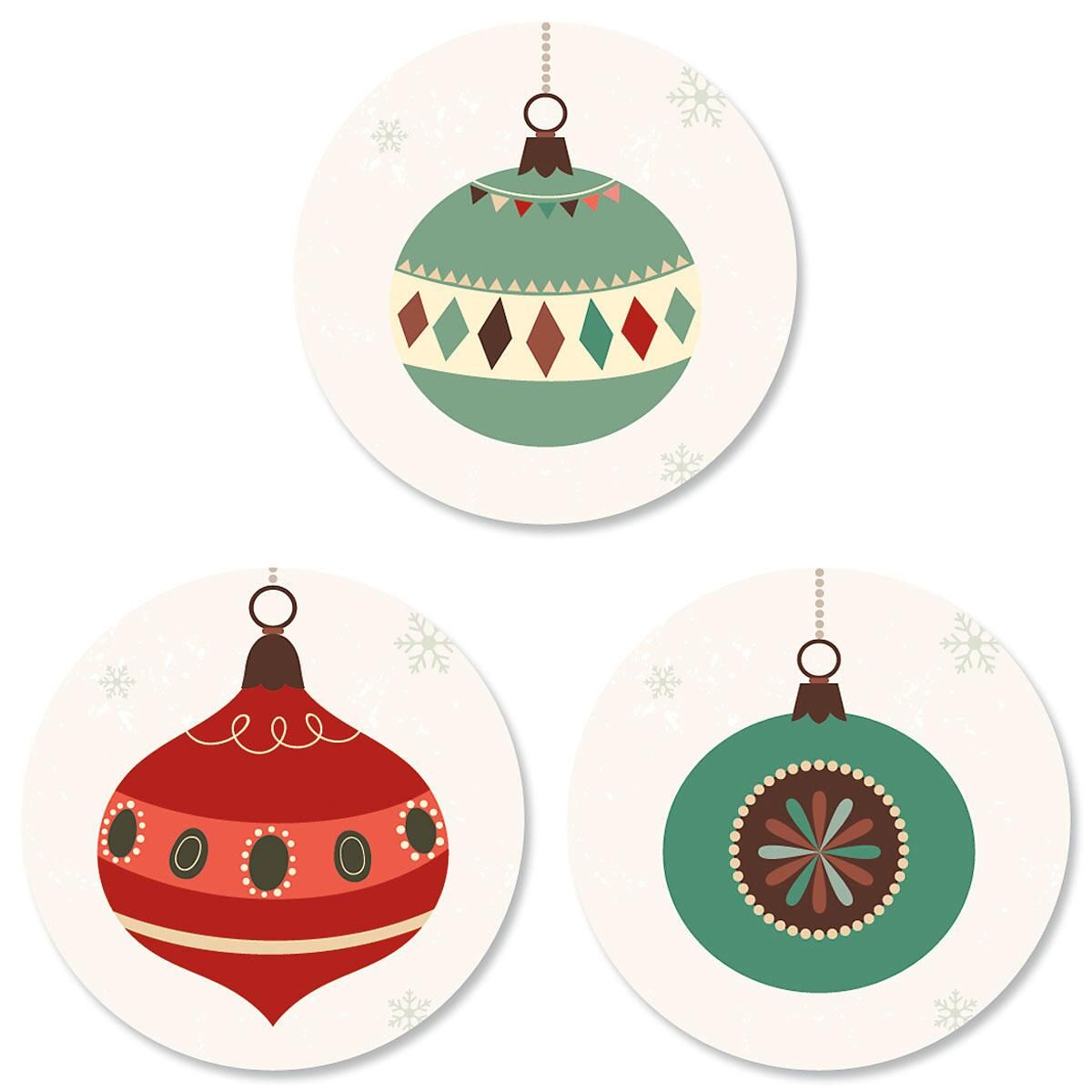 Ornament Trio Envelope Sticker Seals