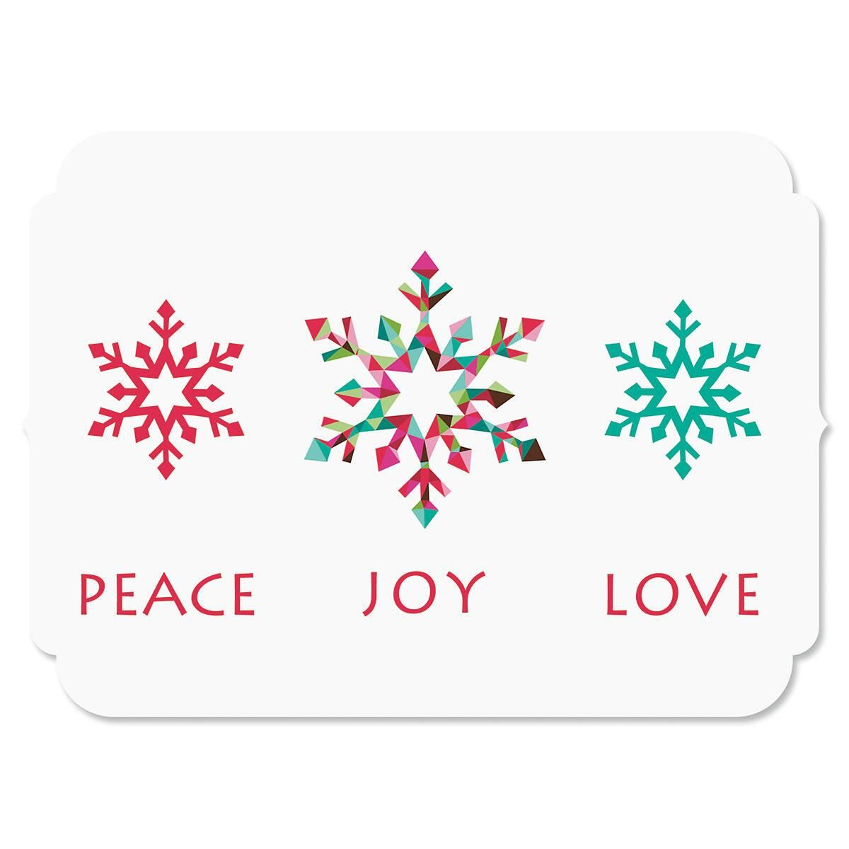 Snowflake Season Nonpersonalized Christmas Cards - Set of 18