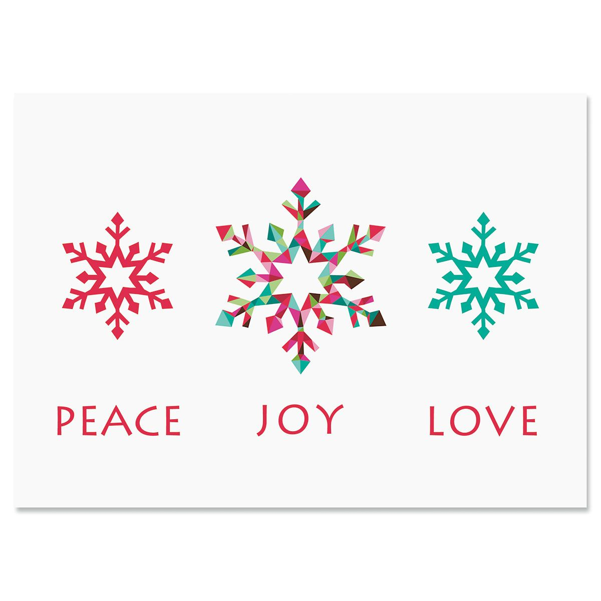 Snowflake Season Personalized Christmas Cards - Set of 18