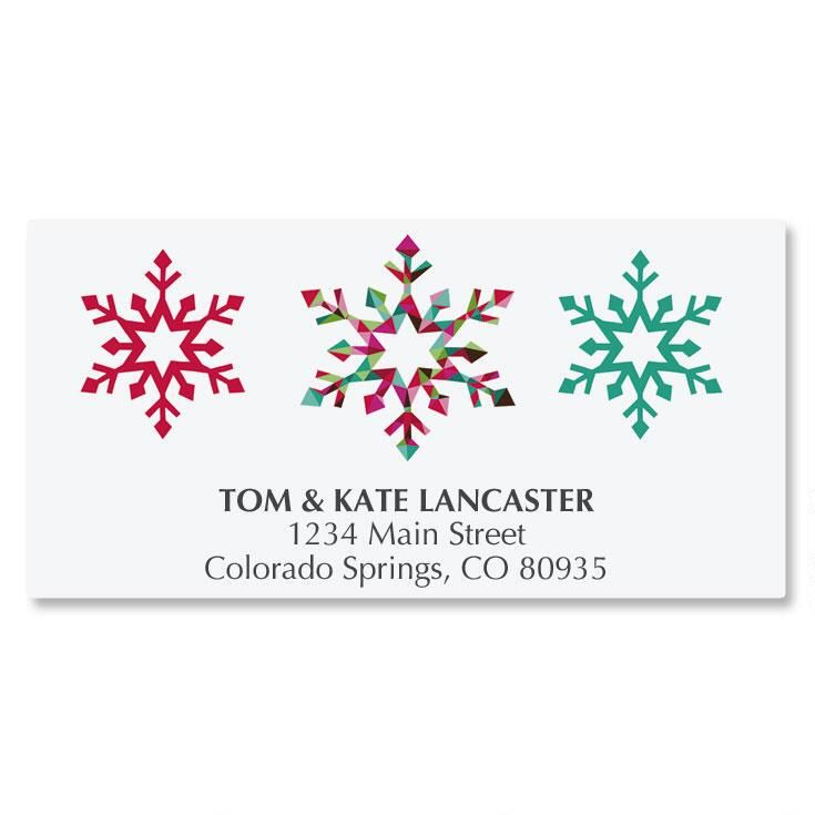 Snowflake Season Deluxe Address Labels