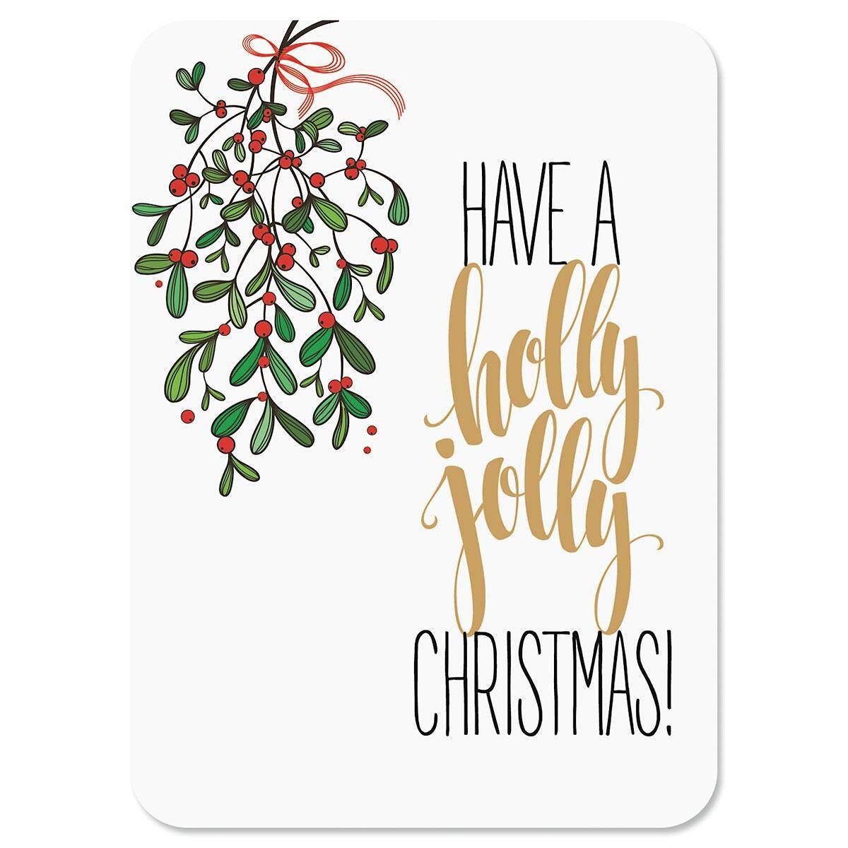Under the Mistletoe Nonpersonalized Christmas Cards - Set of 18