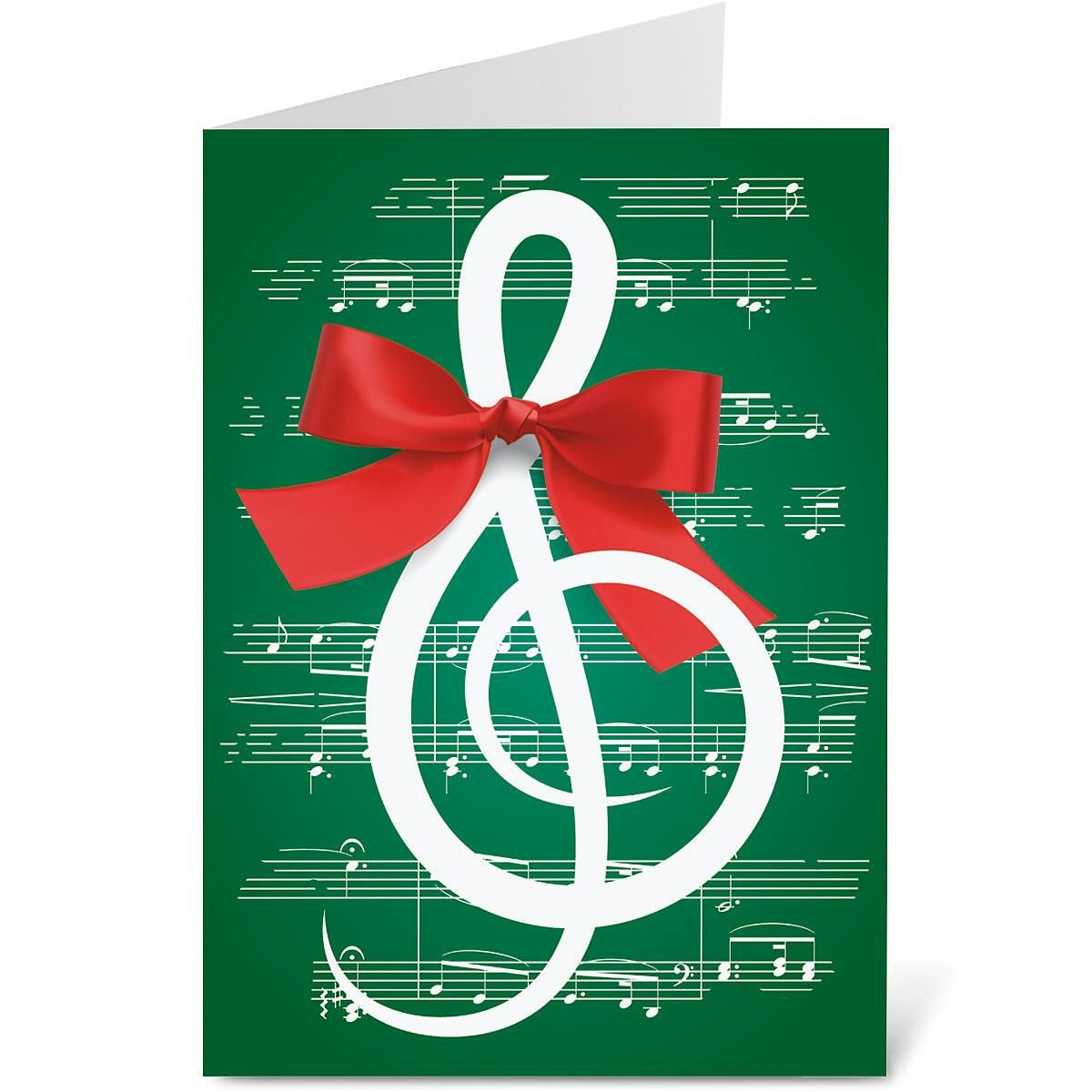 Merry Melody Personalized Christmas Cards - Set of 72