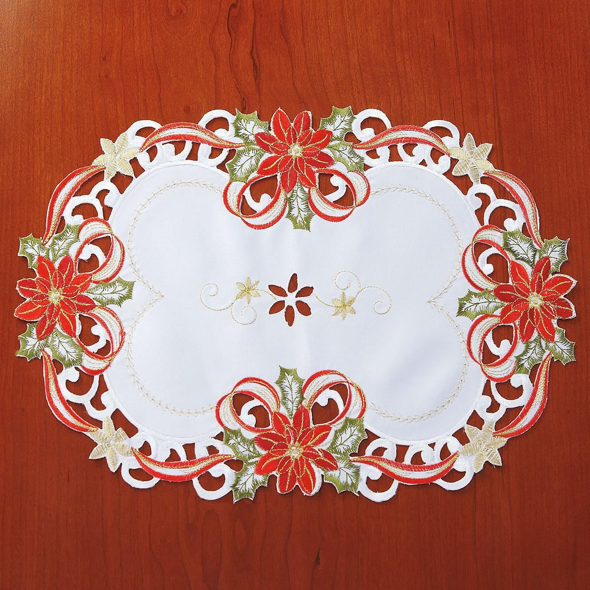 Poinsettias & Bows Placemats