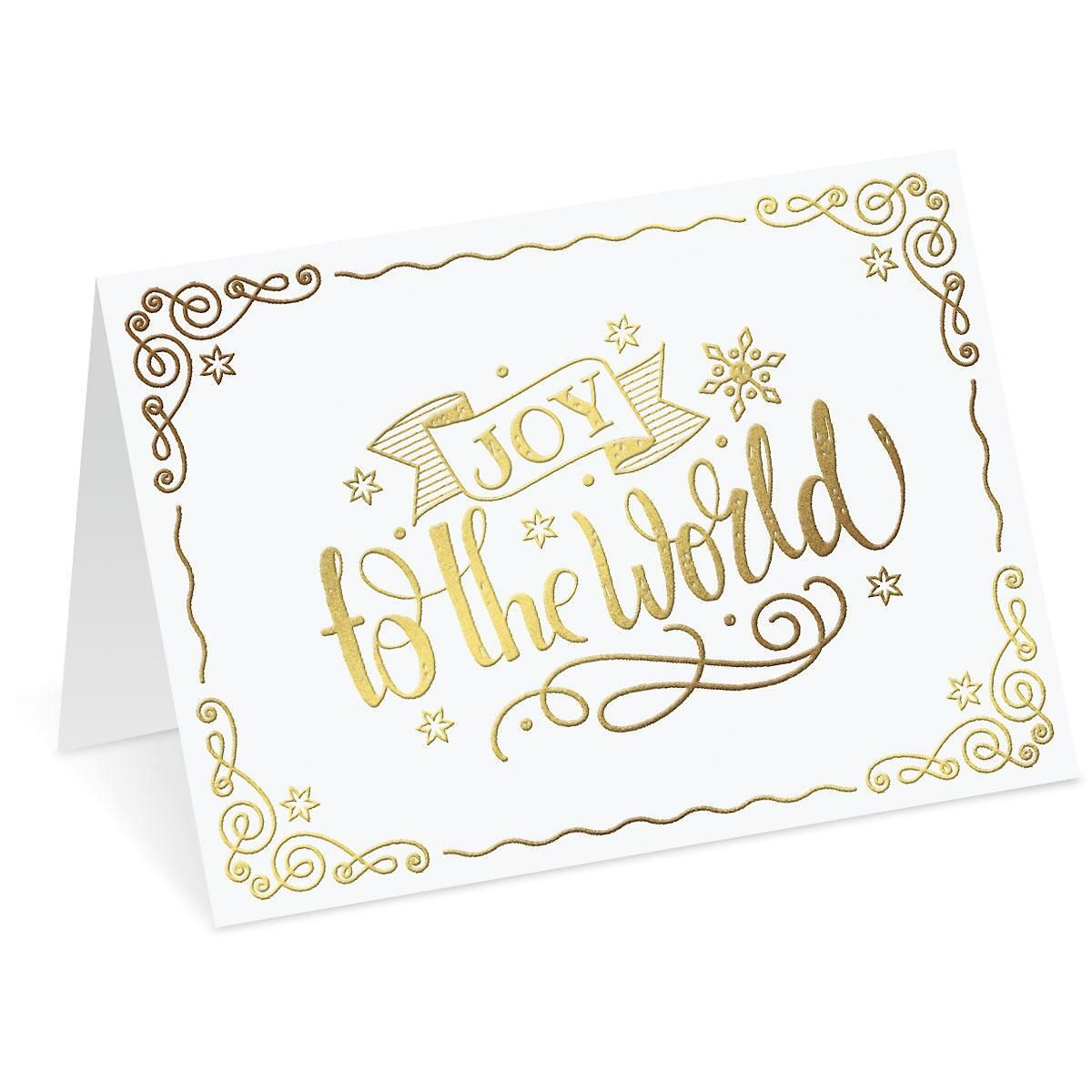 Joy to the World Deluxe Christmas Cards - Set of 14