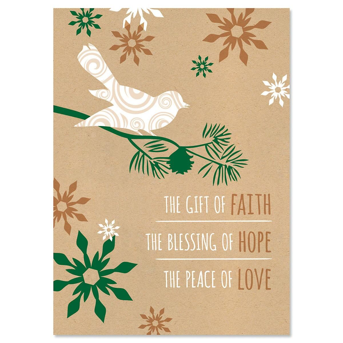 Blessings Personalized Christmas Cards - Set of 18