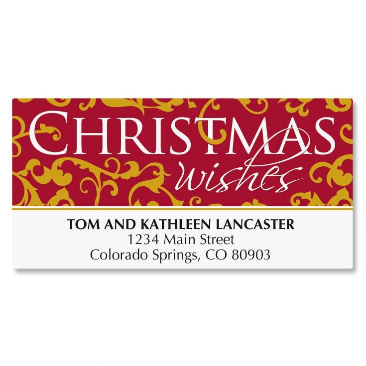 Christmas Wishes Deluxe Address Labels
