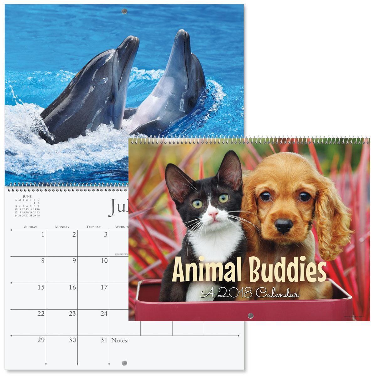 2018 Animal Buddies Wall Calendar
