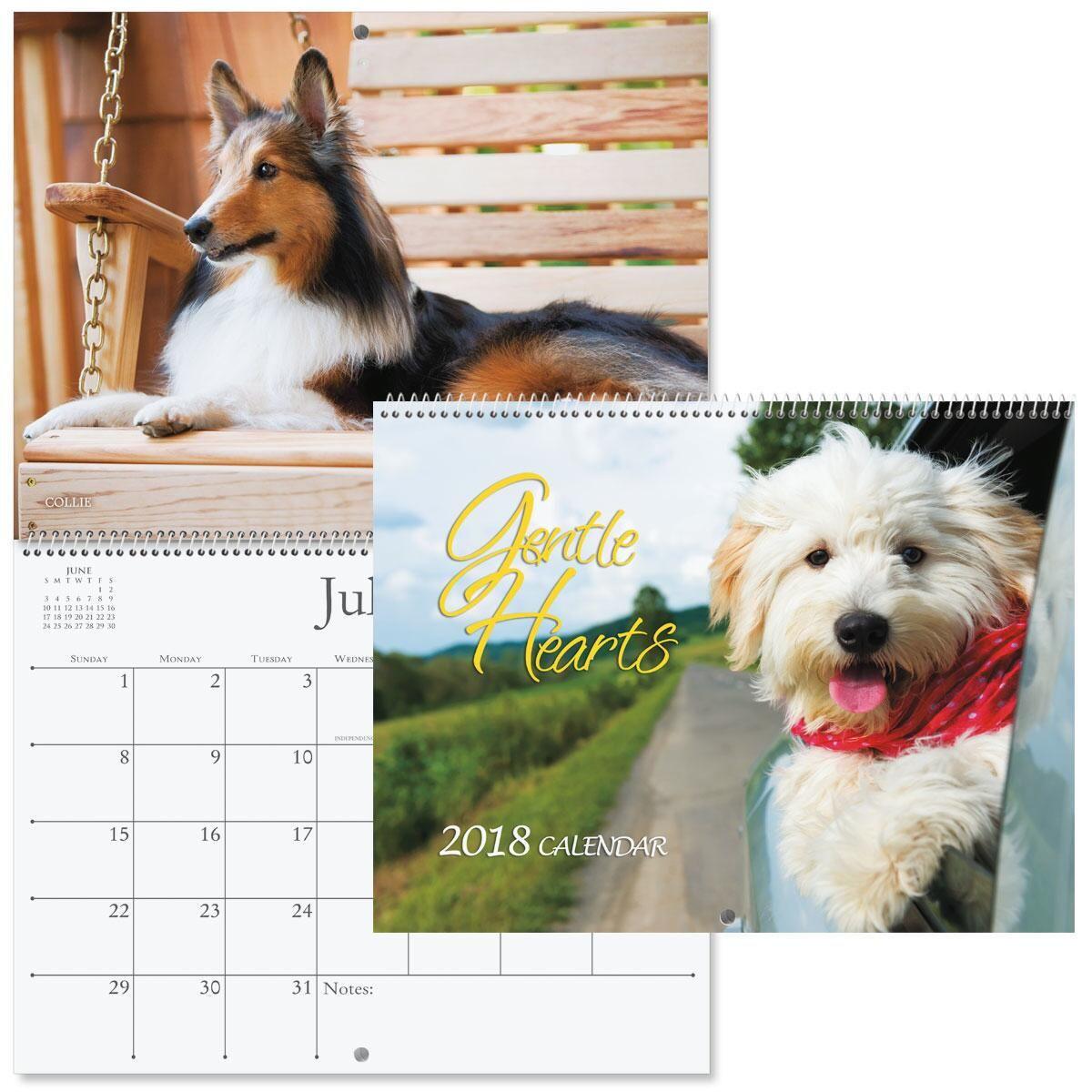 2018 Dogs Wall Calendar