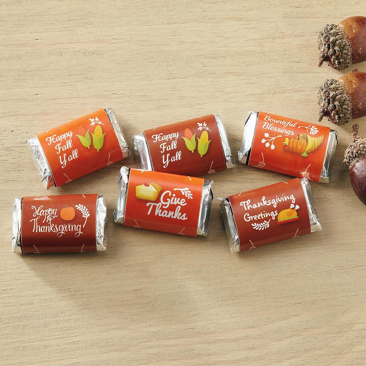 Mini Thanksgiving Candy Wrappers