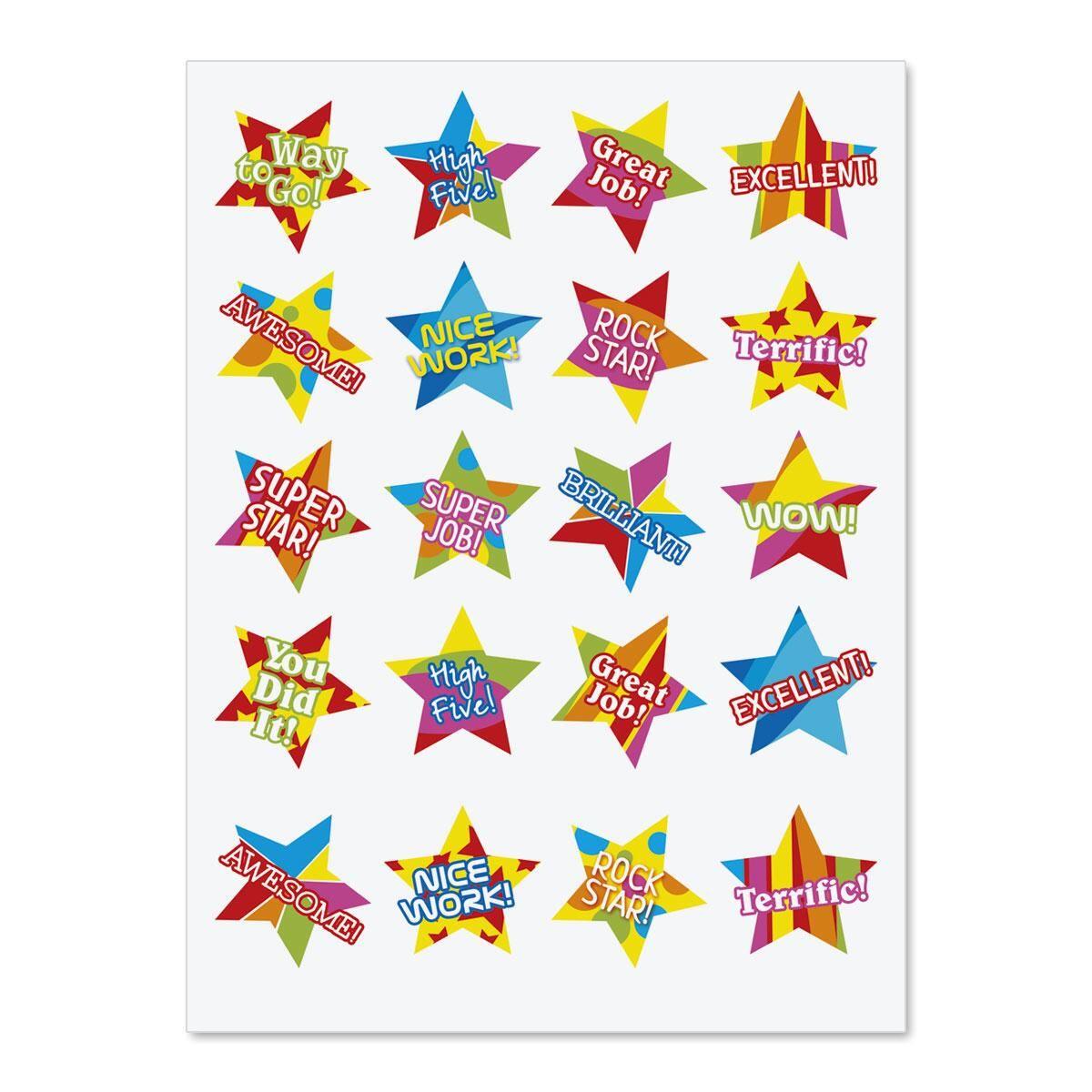 Encouragement Stars Stickers