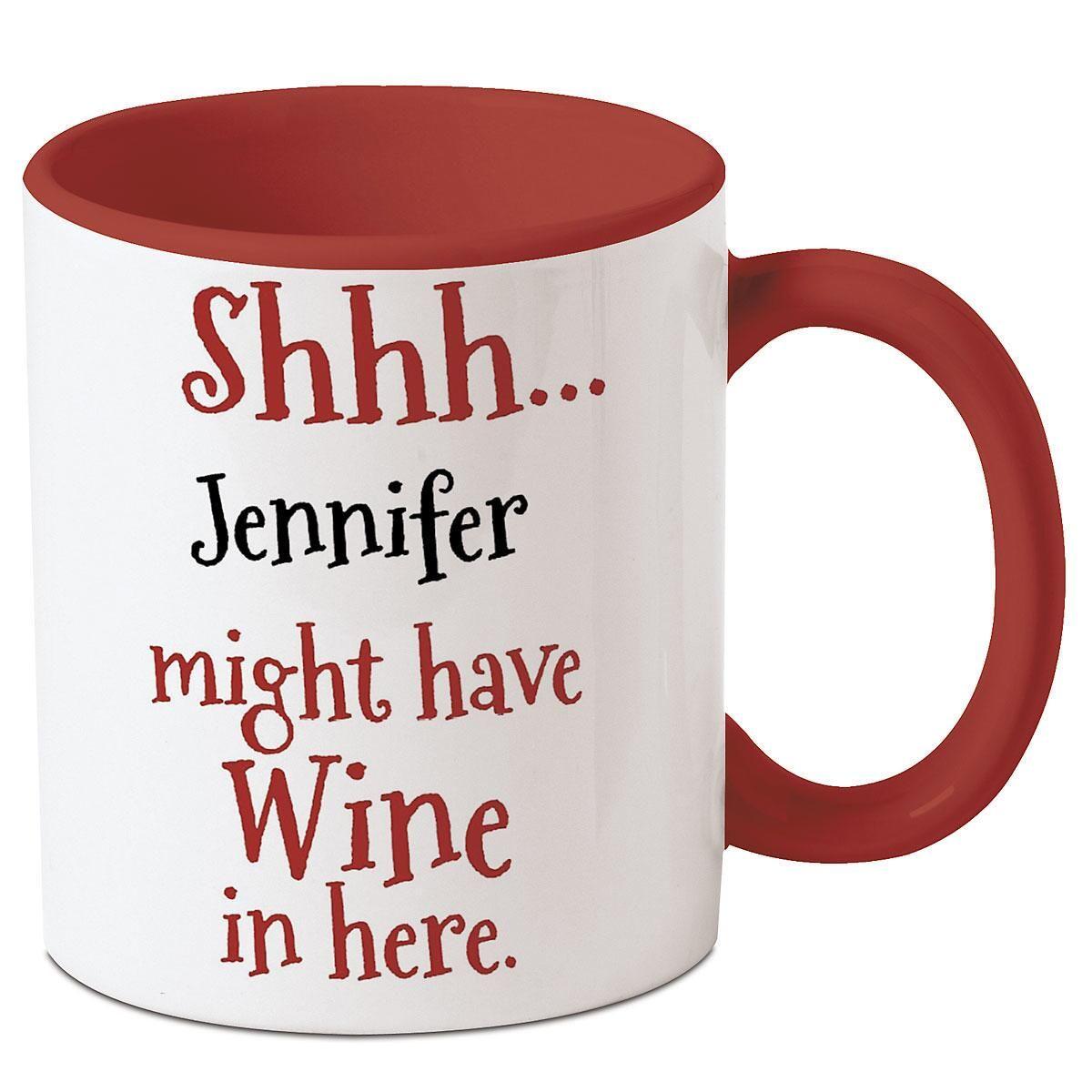 Wine in Here Personalized Mug