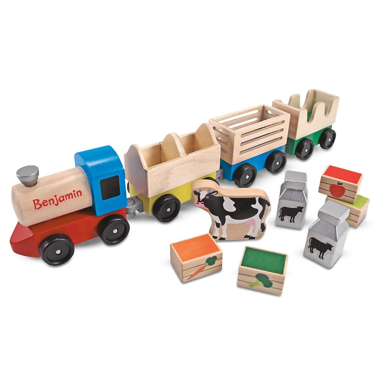 Personalized Melissa & Doug® Farm Train