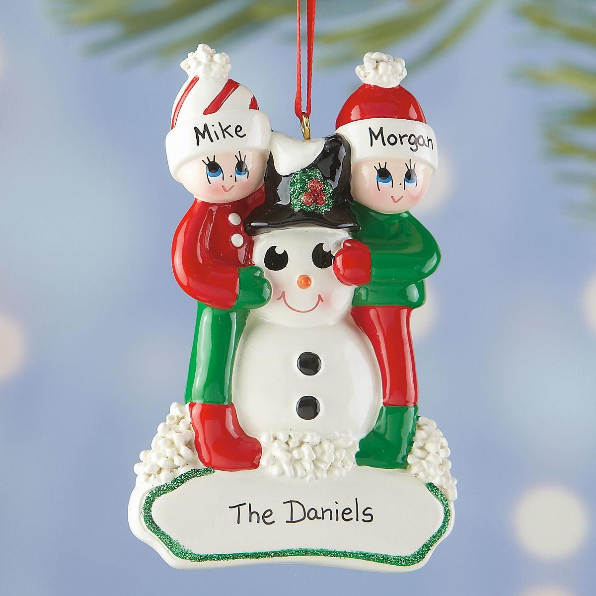 Personalized Snowman Gang Ornament