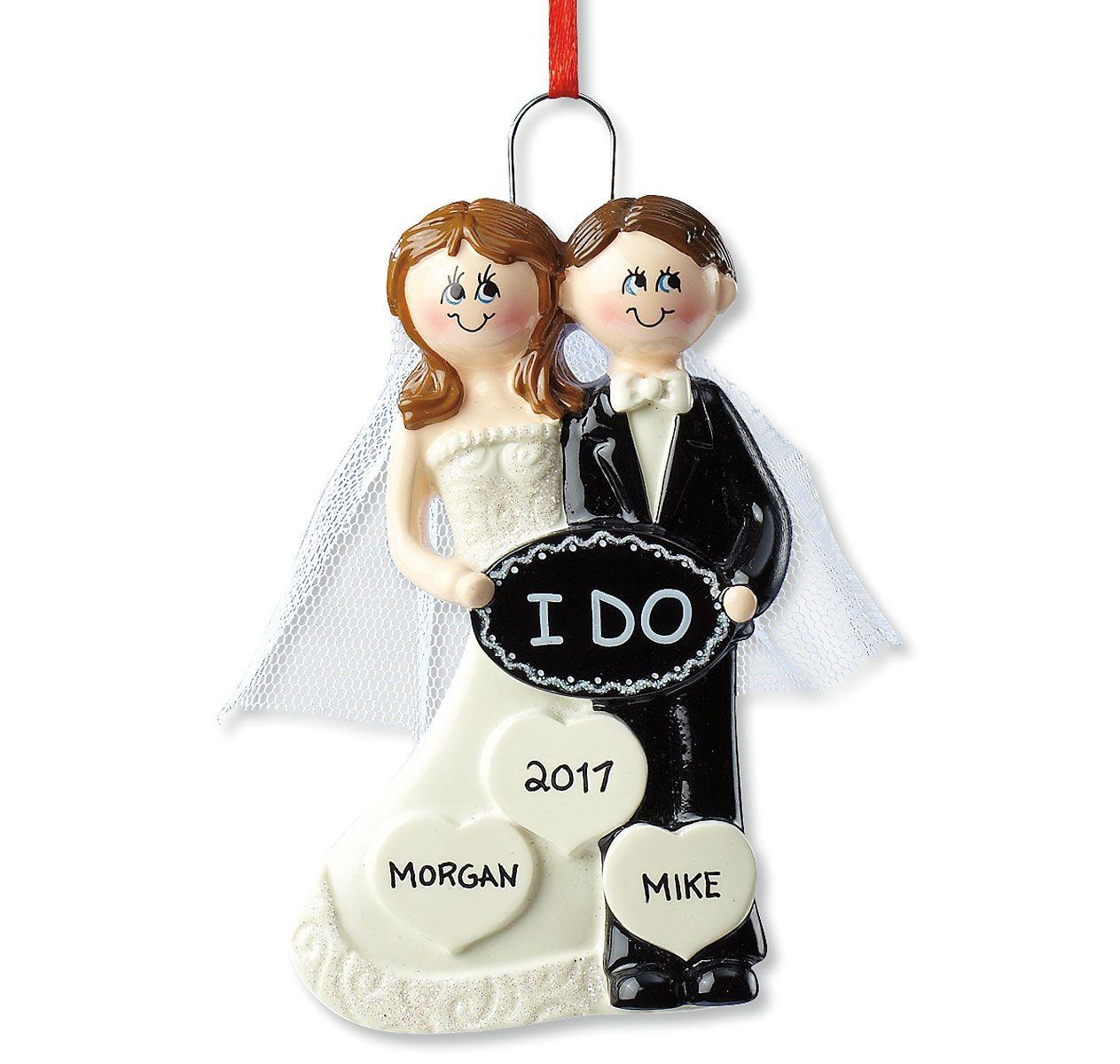 "Personalized ""I Do"" Wedding Ornament"