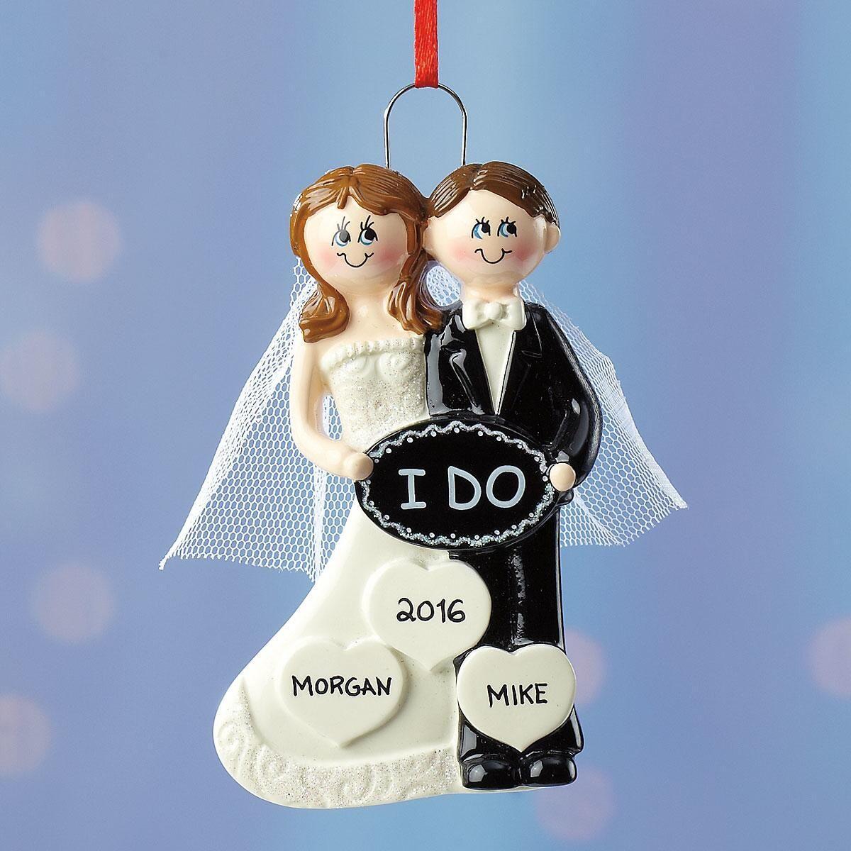 "Personalized ""I Do"" Ornament"