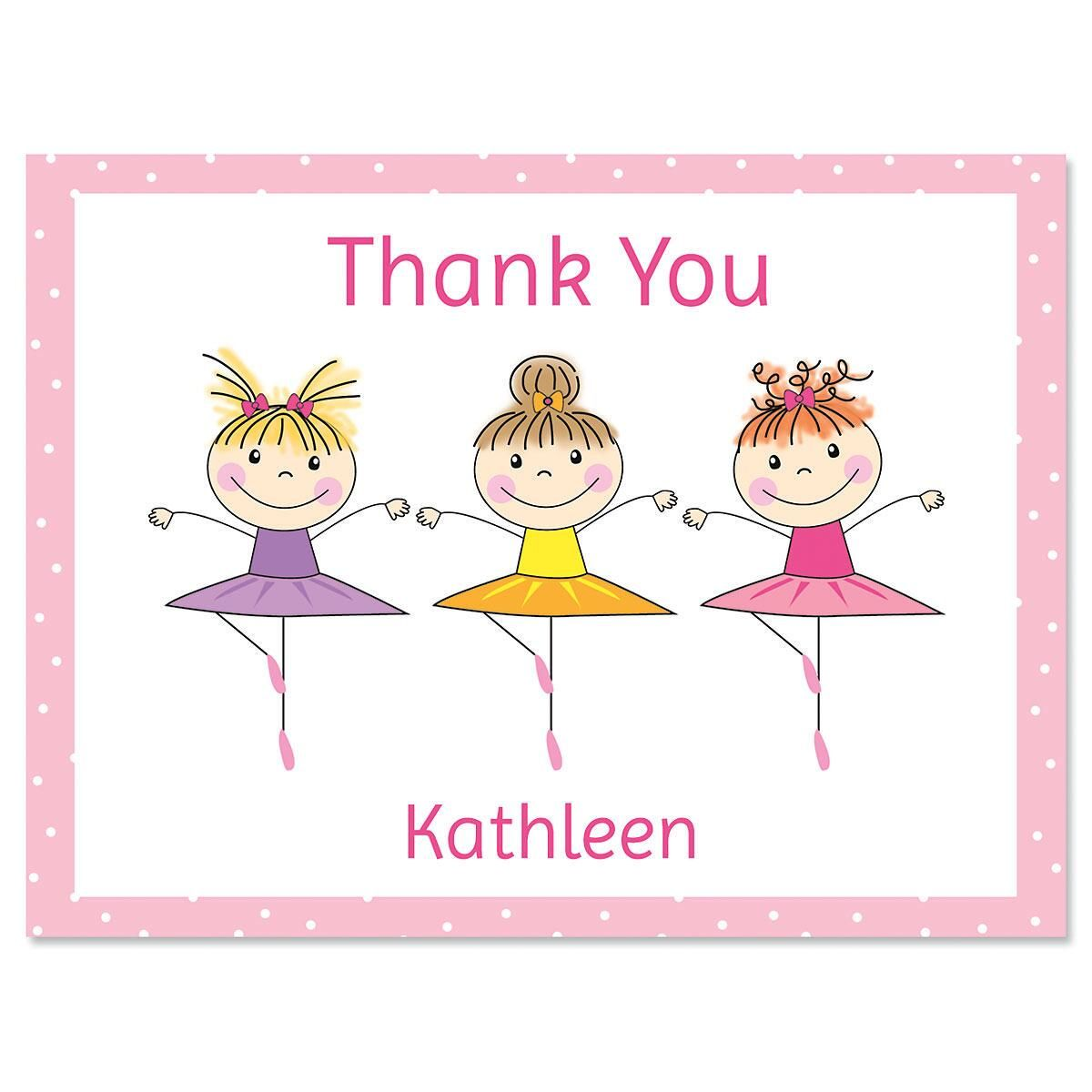 tiny dancer personalized thank you note cards - Thank You Note Cards