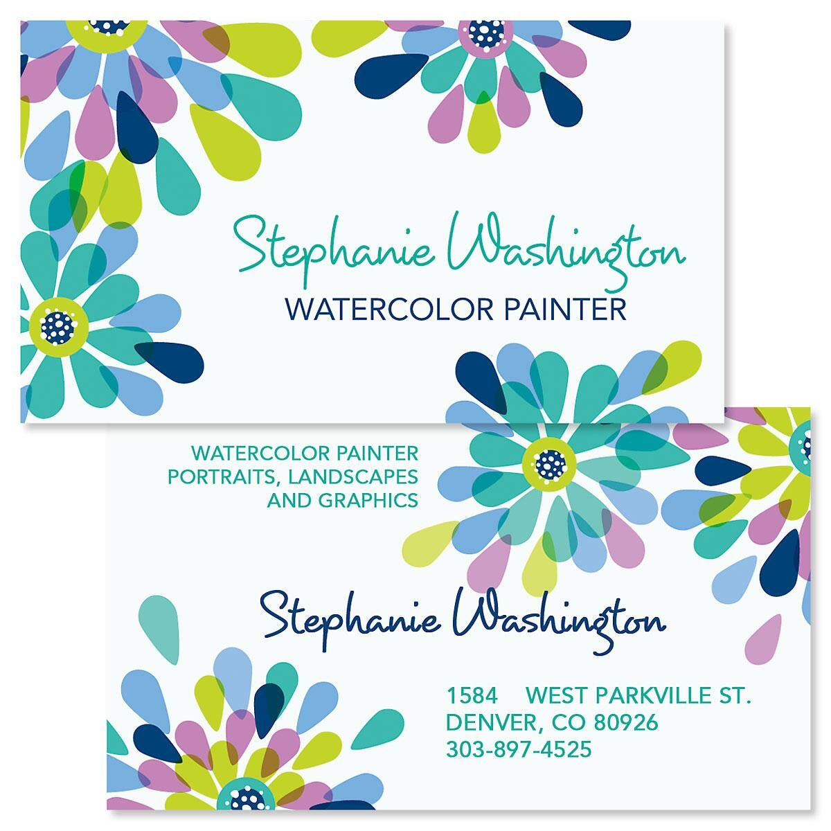 Fresh Blooms Double-Sided Business Cards