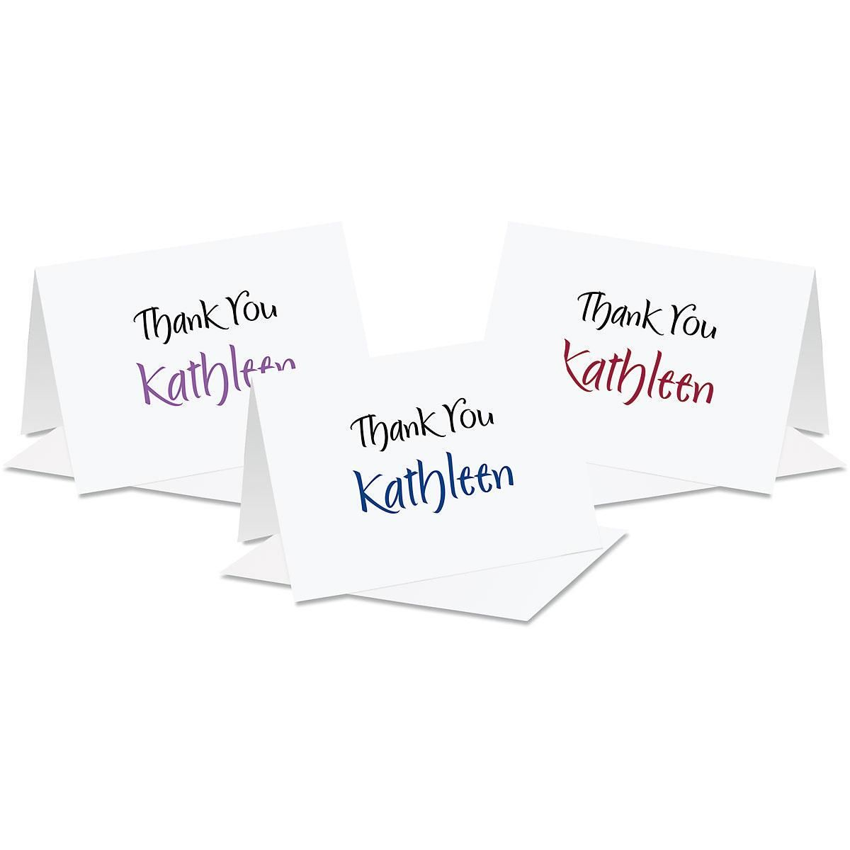Elegant Thank You Note Cards  (3 Color Choices)