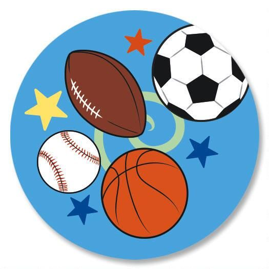 Sports Balls Envelope Seals