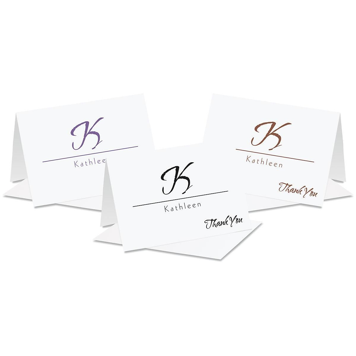 Inspirational Personalized Thank You Note Cards