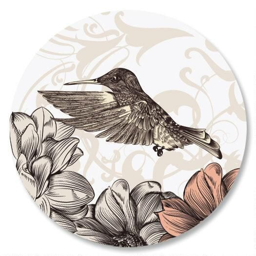 Hummingbird Garden Envelope Sticker Seals
