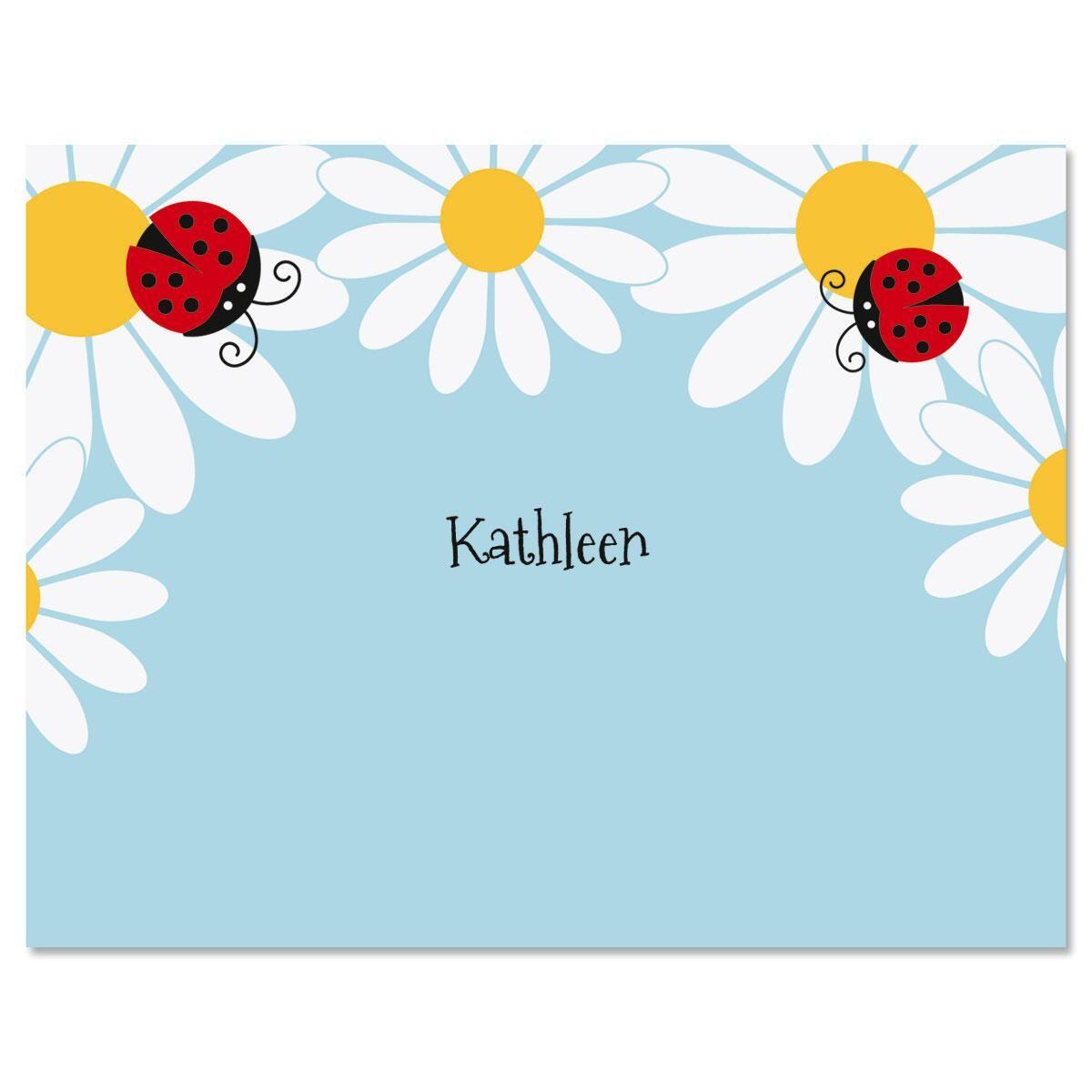 Ladybug Daisy Correspondence Cards