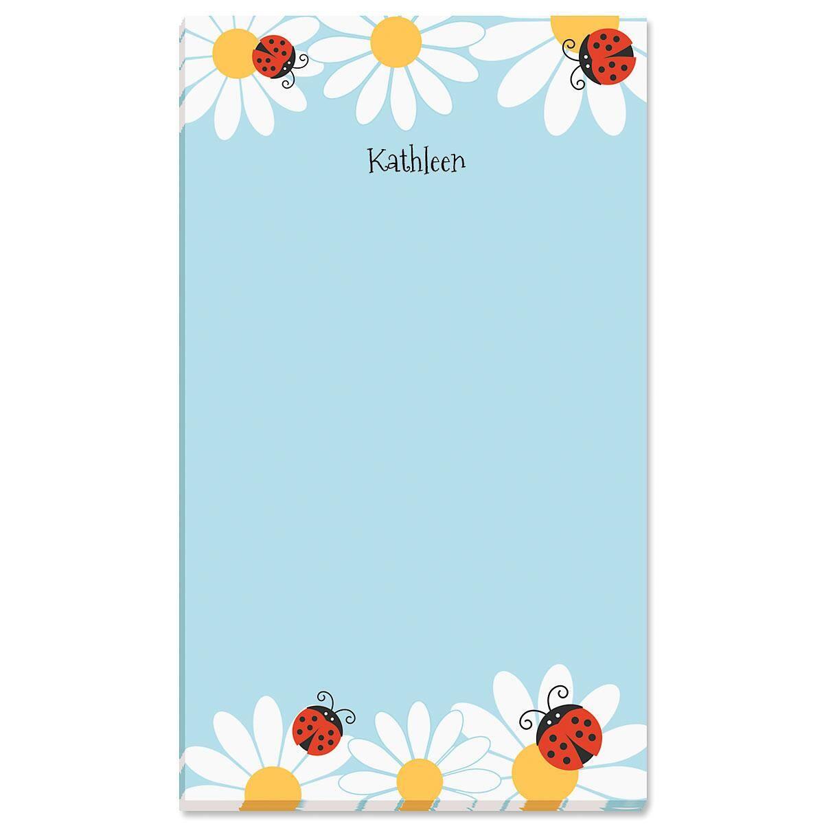 Ladybug Daisy Personalized Notepads
