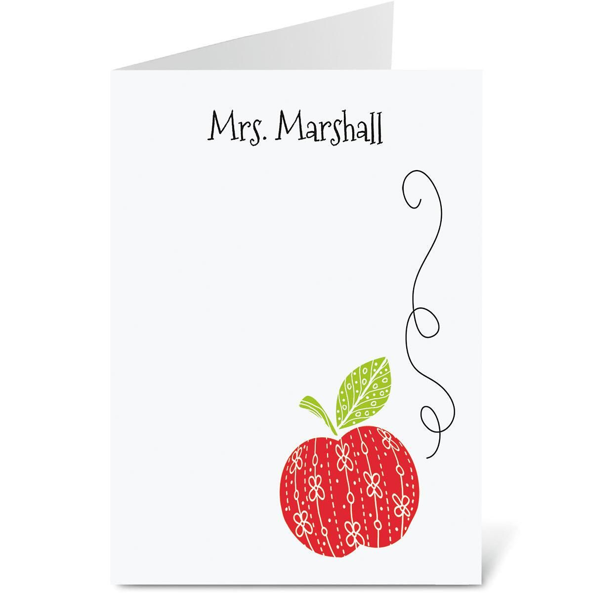 Teacher Personalized Note Cards