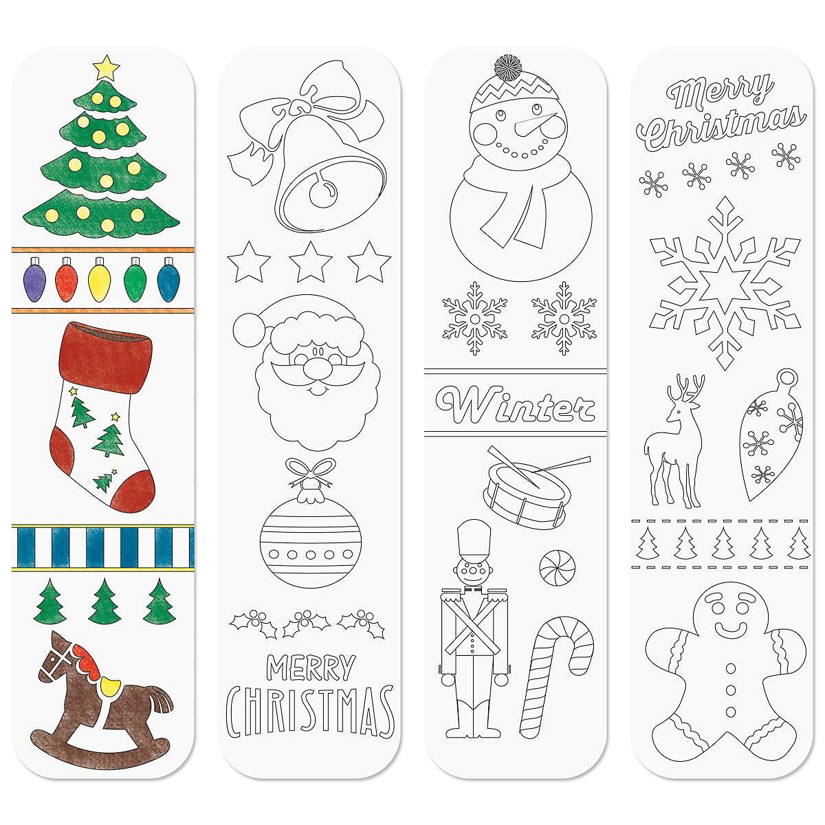 Kids Coloring Bookmarks