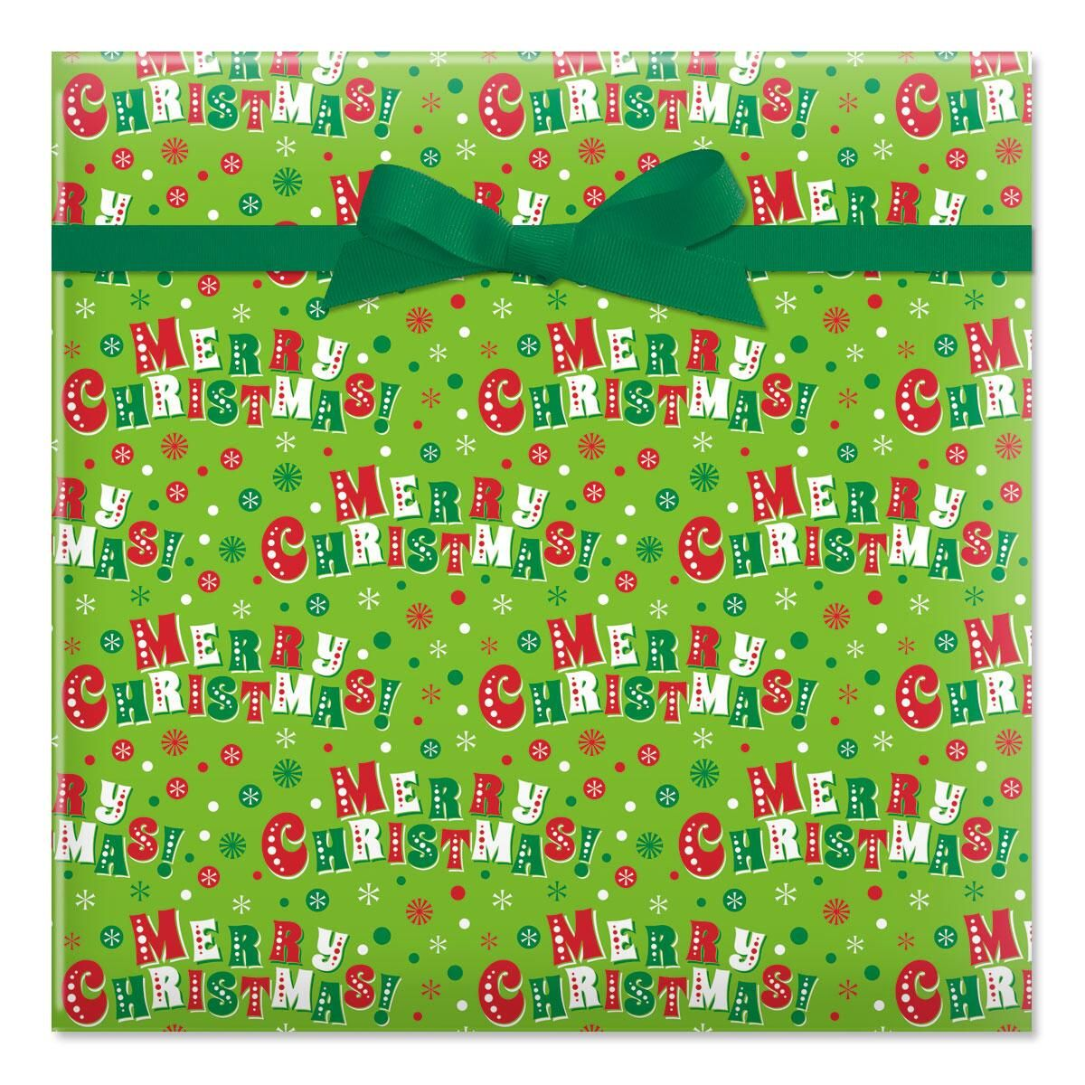 Jolly Christmas Jumbo Rolled Gift Wrap
