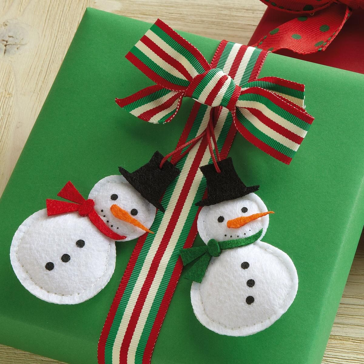 Happy Felt Snowman Toppers