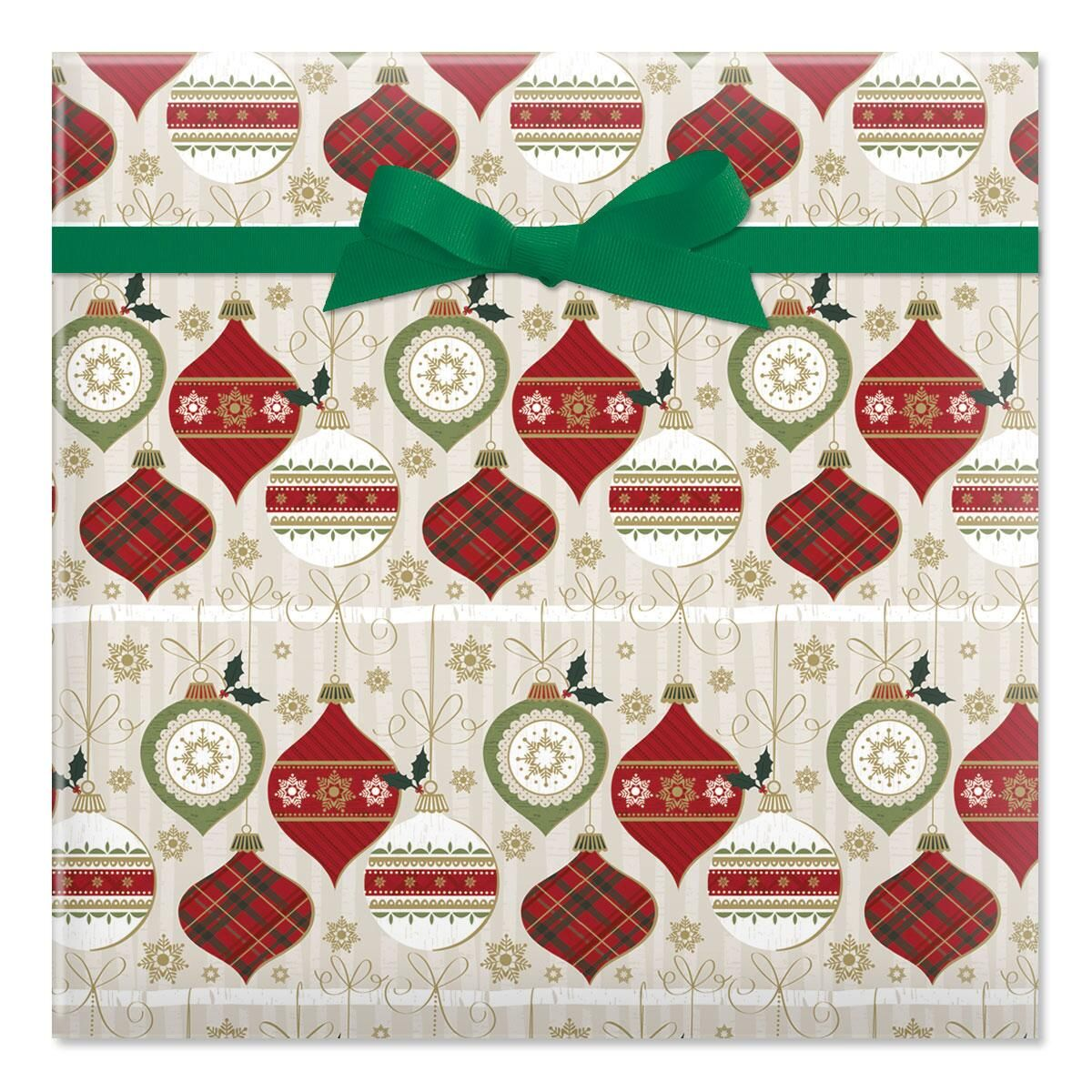 Birchwood Baubles Jumbo Rolled Gift Wrap