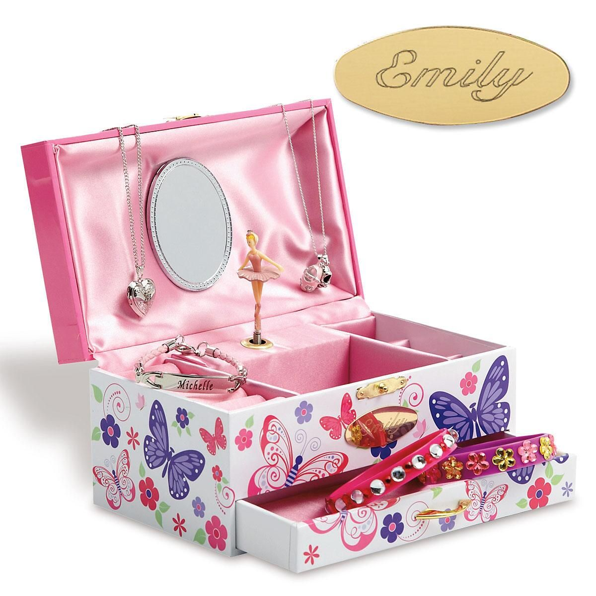 Personalized Butterfly Wind-Up Music Box