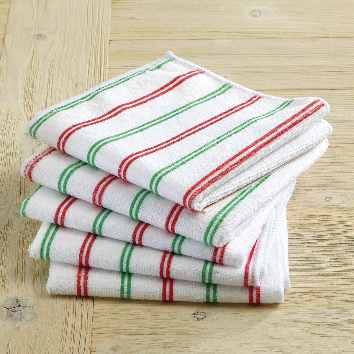 Christmas Stripes Microfiber Cloths