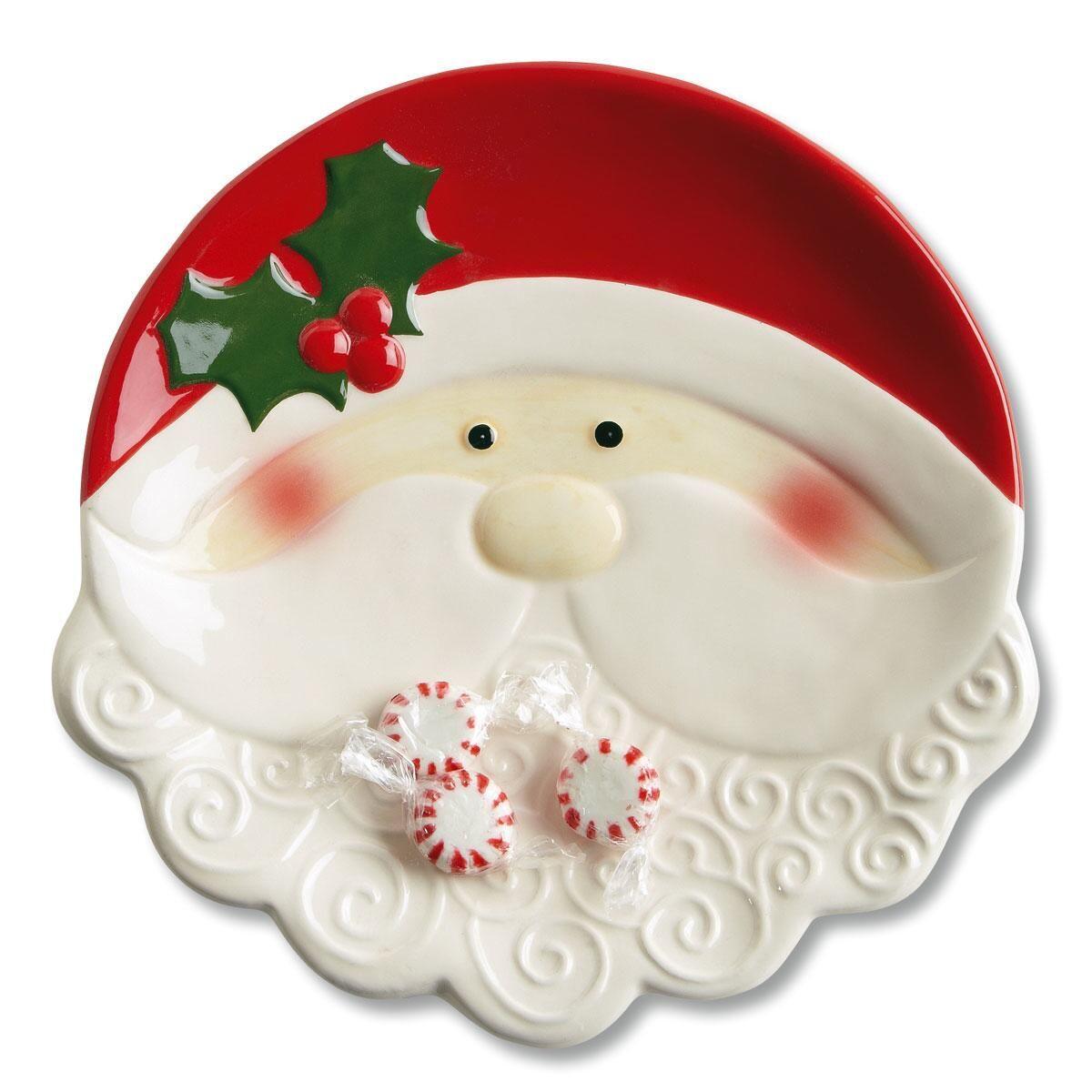 Santa Face Ceramic Plate